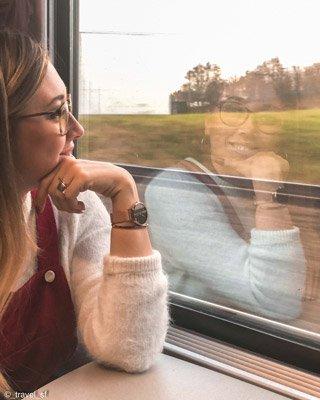 Bruges - Foto sul treno