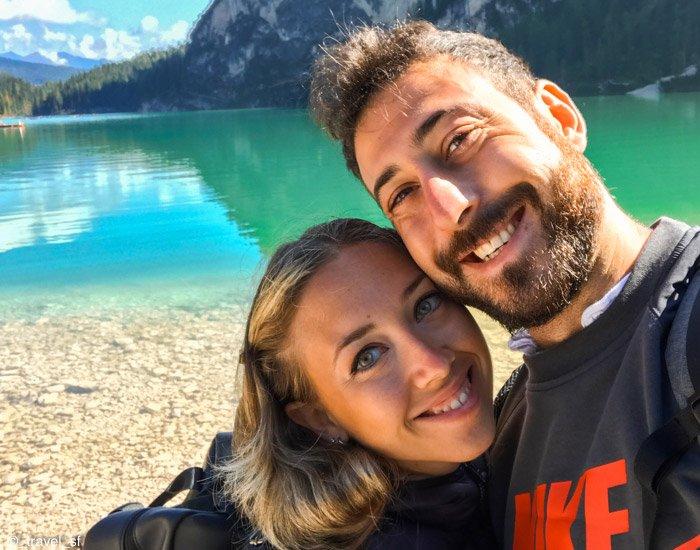 Dolomiti: noi al lago